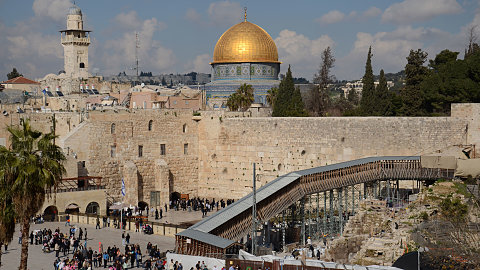March 15 - Mount of Olives , Palm Sunday Road, Garden of Gethsemane, Mount Zion, House of Caiaphas , Upper Room, King David's Tomb, Western Wall, Davidson Center - Southern Wall Steps